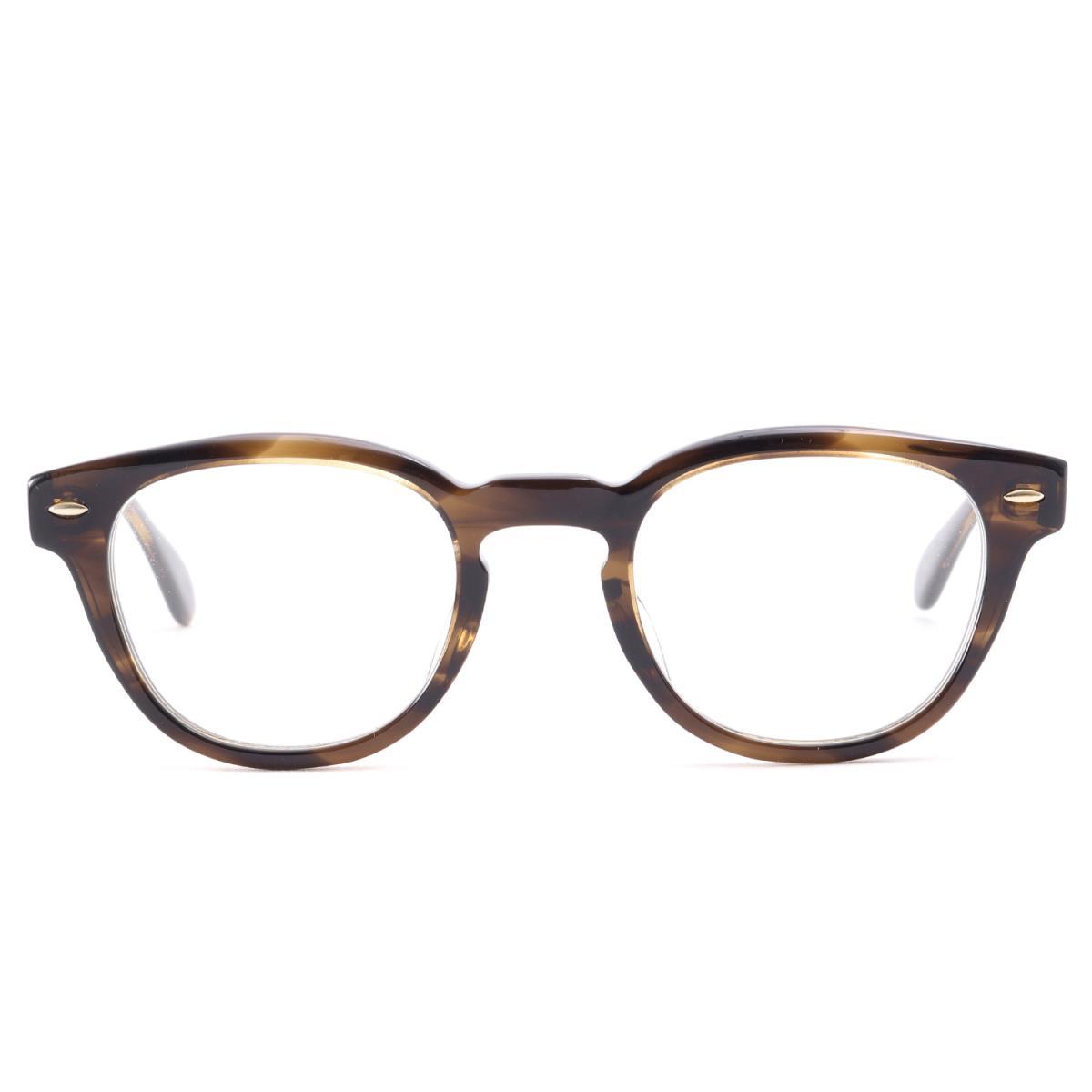 OLIVER PEOPLES (オリバー ピープルズ) クリアレンズサングラス(Sheldrake-J) 眼鏡 日本製 べっ甲ブラウン×クリアレンズ 47□22-145 【メンズ】【K2207】【中古】【あす楽☆対応可】