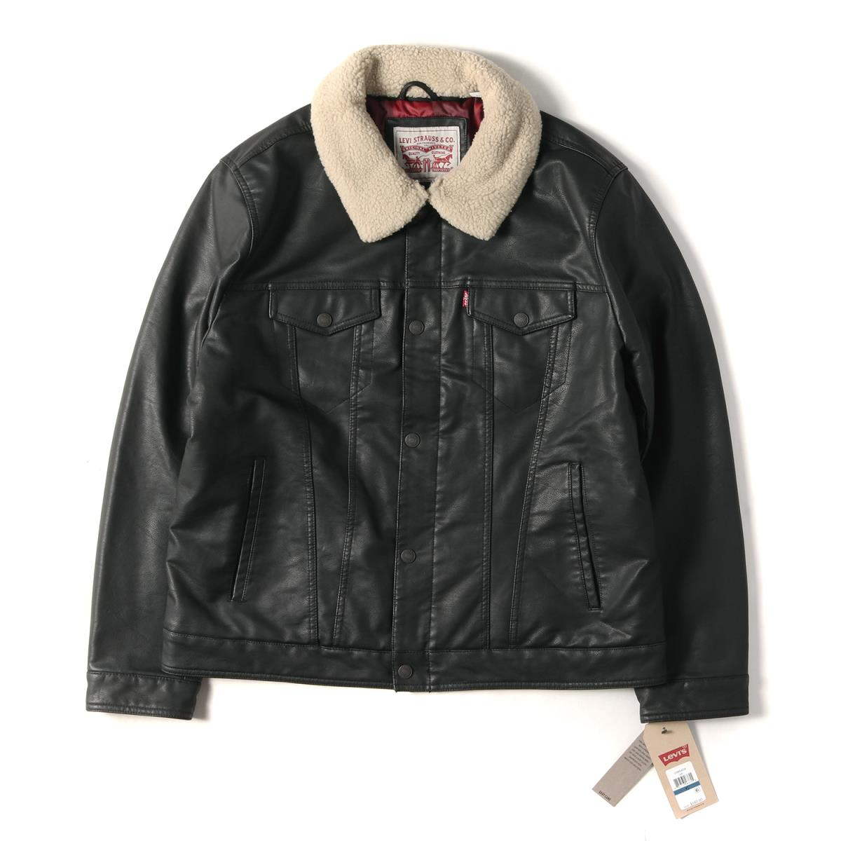 5a1469c3c Fake leather batting trucker jacket black XL with the Levi's (Levis) 18A/W  Japanese non-release boa
