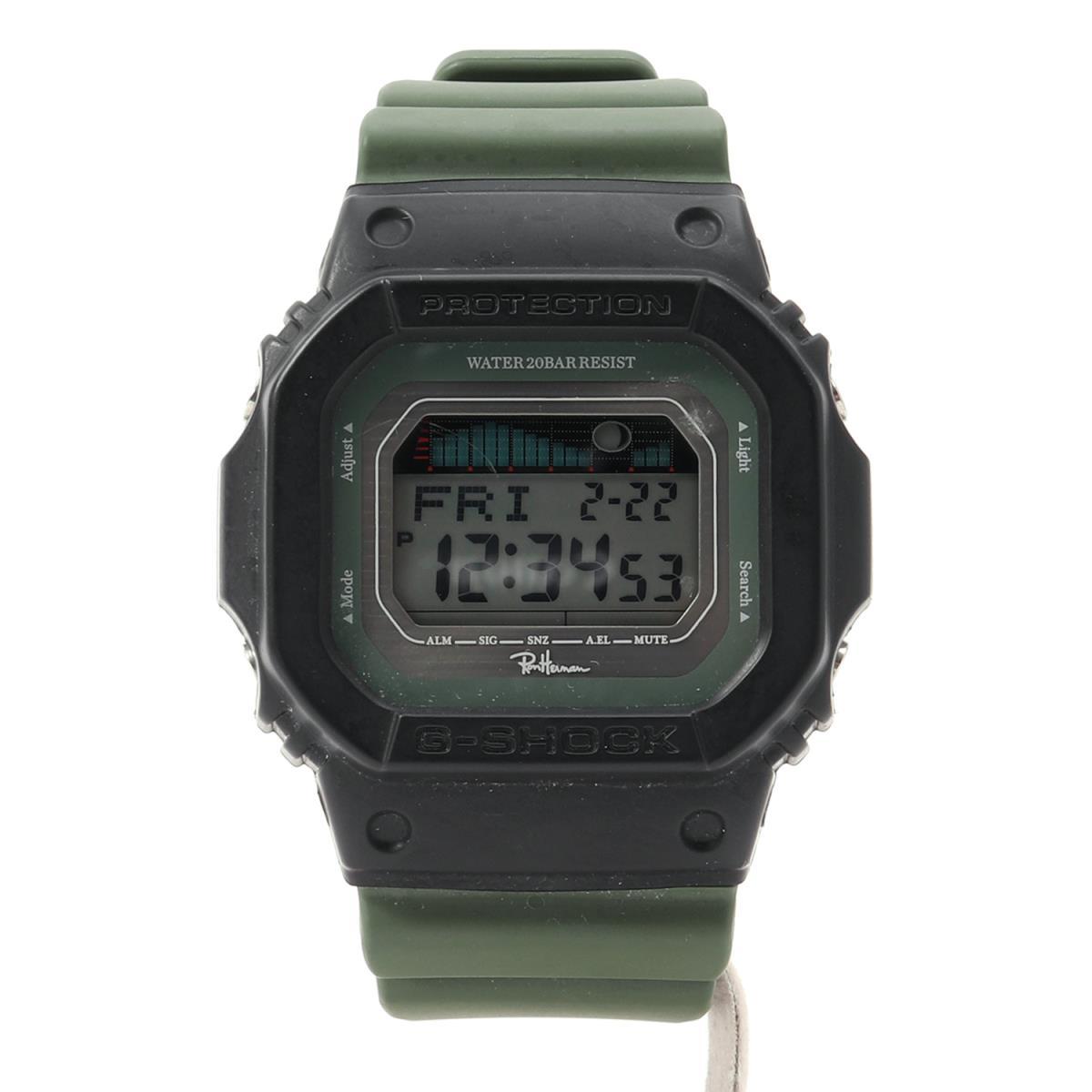 Ron Herman (ロンハーマン) 17S/S ×CASIO G‐SHOCK(GLX-5600RH-3J) 腕時計 ウォッチ ブラック×カーキ 【メンズ】【K2212】【中古】【あす楽☆対応可】
