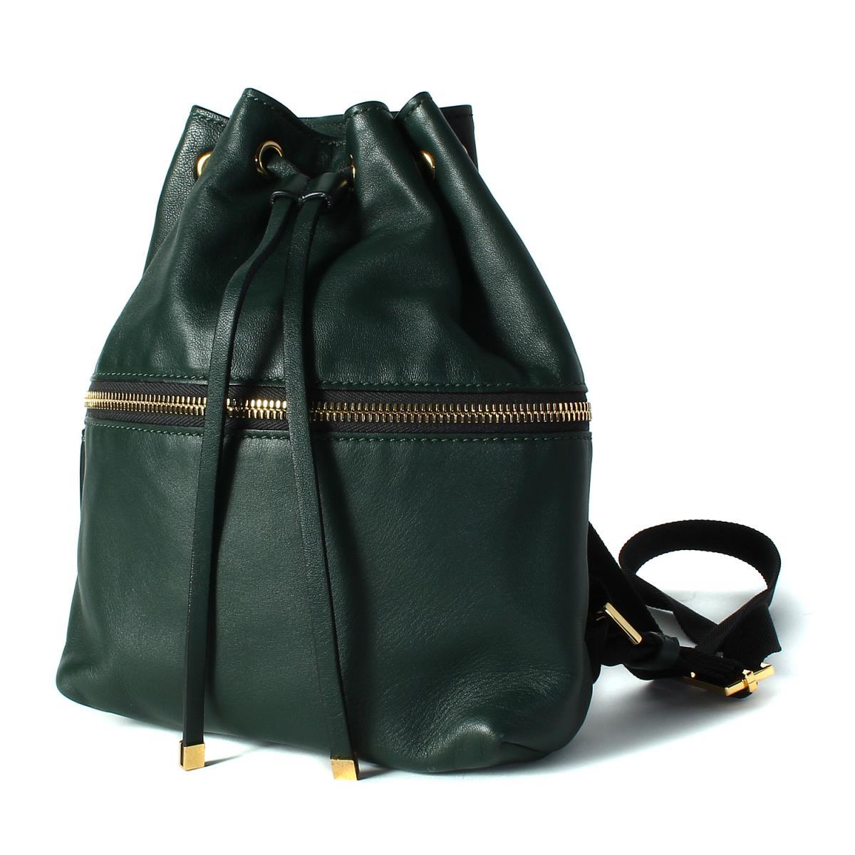 b10ddc9c7575 MARNI(マルニ) レザー ミニリュック バックパック 巾着 モスグリーン×ブラック【K2214