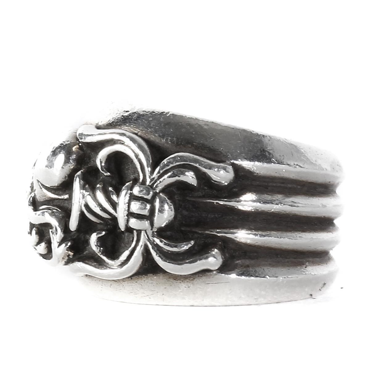 CHROME HEARTS (クロムハーツ) ダガーハートリング(Dagger Heart Ring) シルバー 15号 【メンズ】【K2347】【中古】【あす楽☆対応可】