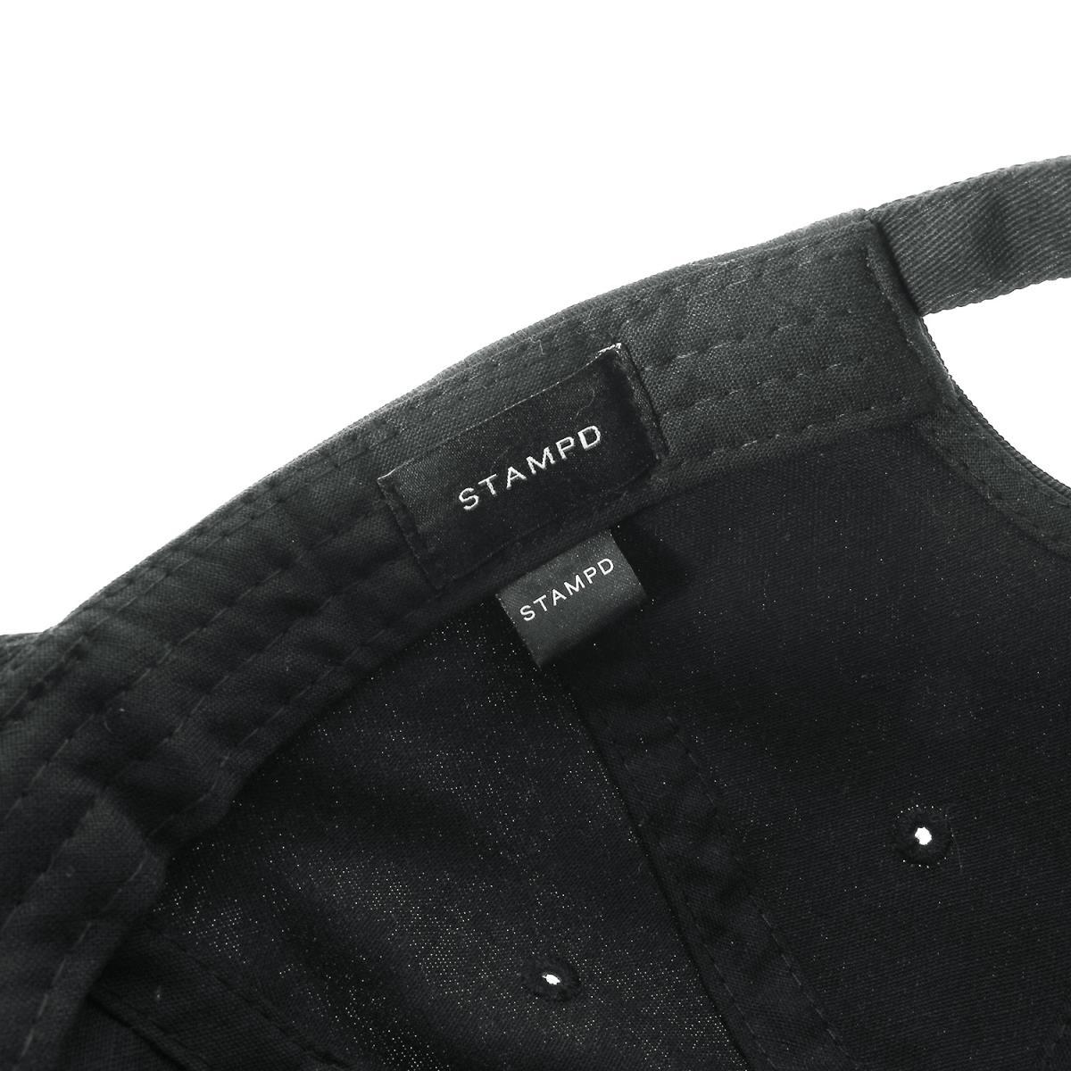 5f32edf4d21 STAMPD (スタンプド) 18S S brand logo embroidery 6 panel cap (SCRIPT DAD HAT)  black