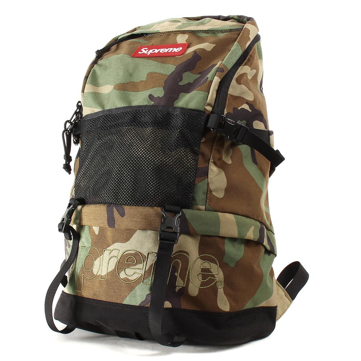 Supreme (シュプリーム) 15A/W コーデュラナイロンバックパック(Contour Backpack) ウッドランドカモ 【メンズ】【K2224】【中古】【あす楽☆対応可】