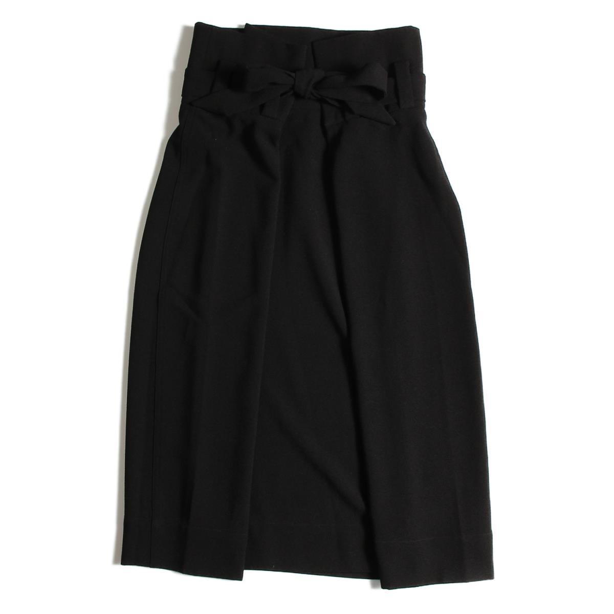 CATHRINE HAMMEL(キャサリン ハメル) ウエストリボン タイトスカート 19春夏 ブラック M 【レディース】【美品】【K2225】【中古】