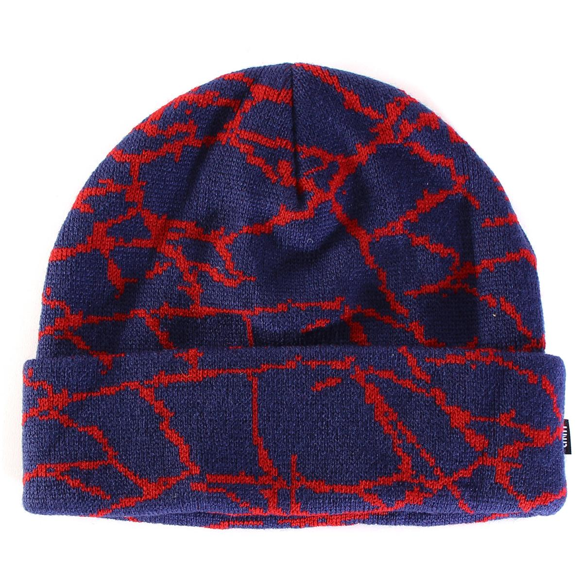 ed3484129dc UNDEFEATED (Andy fee Ted) sander whole pattern acrylic beanie (SIDELINE  BEANIE) knit cap blue X red