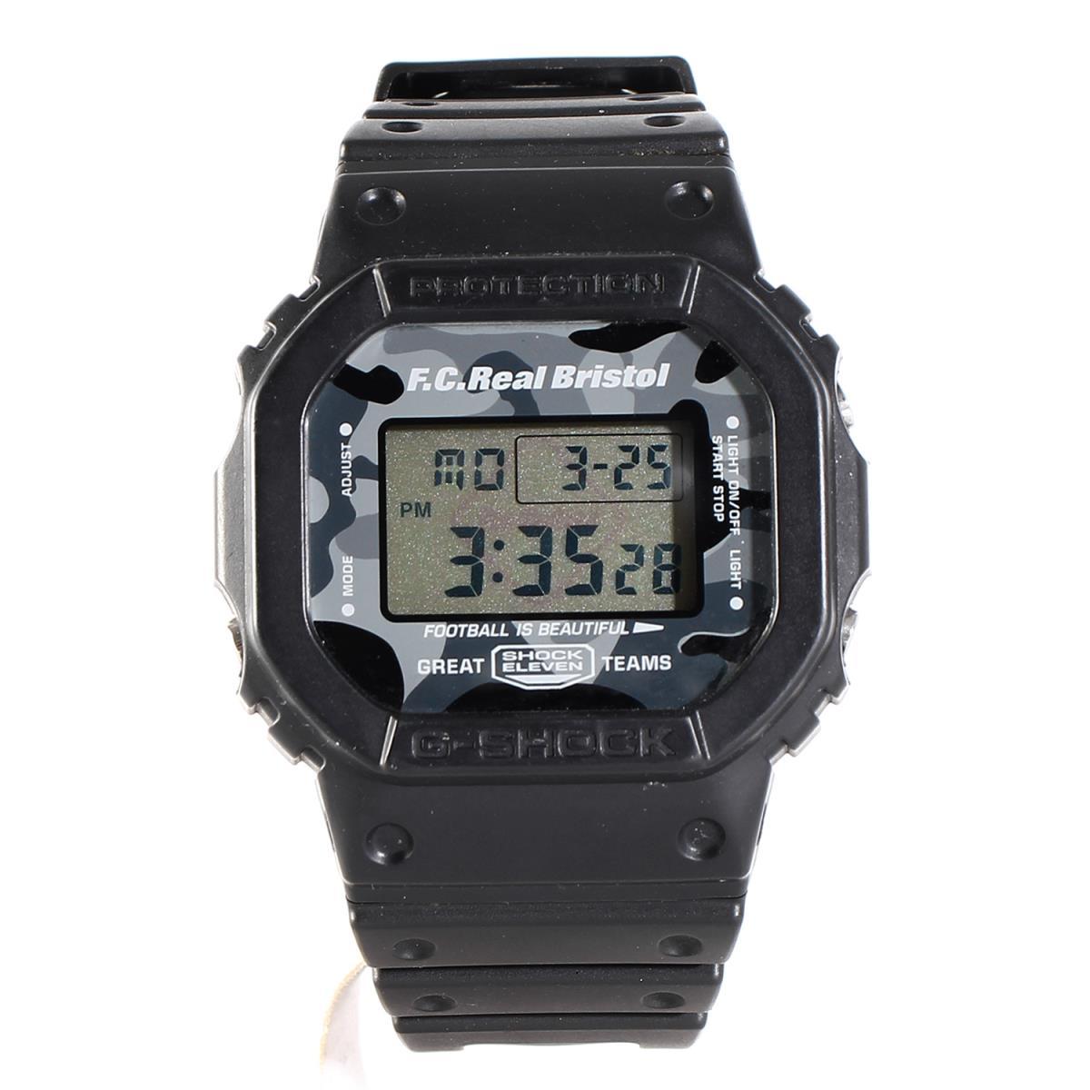 FCRB (エフシーアールビー) ×CASIO G-SHOCK DW-5600(FCRB BLACK CAMOUFLAGE) 腕時計 ブラック×ブラック迷彩 【メンズ】【K2232】【中古】【あす楽☆対応可】