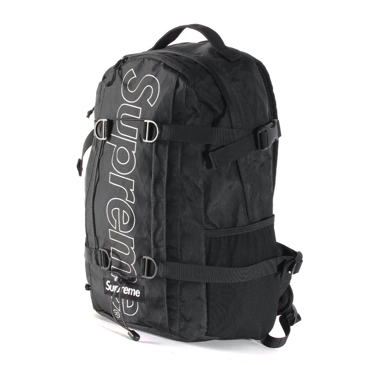 Supreme (シュプリーム) バッグ ブランドロゴ X-PAC バックパック Backpack 18年秋冬 ブラック 【メンズ】【K2234】【中古】【あす楽☆対応可】