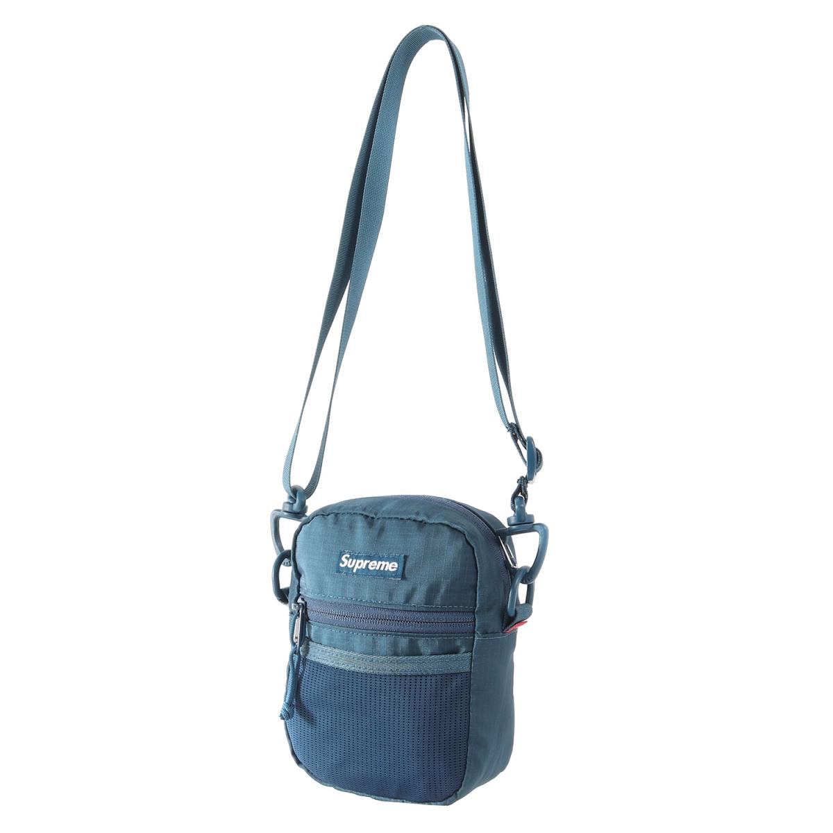 Supreme (シュプリーム) 17S/S ブランドロゴコーデュラリップストップナイロンショルダーバッグ(Small Shoulder Bag) ティール 【メンズ】【美品】【K2240】【中古】【あす楽☆対応可】