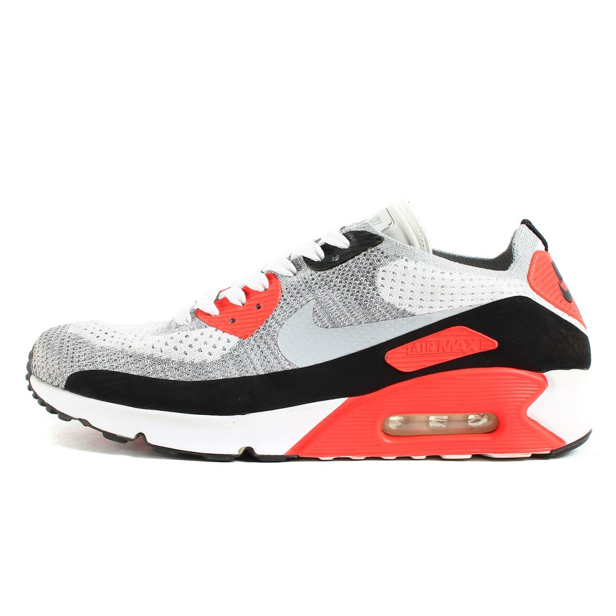 pretty nice 42928 413bf NIKE (Nike) AIR MAX 90 ULTRA 2.0 FLYKNIT (875,943-100) white X wolf gray  US10(28cm)