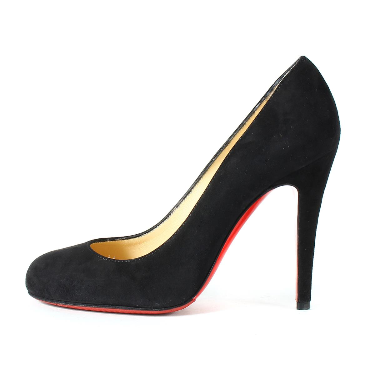 sports shoes c059f 2fb07 Christian Louboutin (Christian ルブタン) suede cloth heel pumps RON RON 100  SUEDE black 36 (23cm)