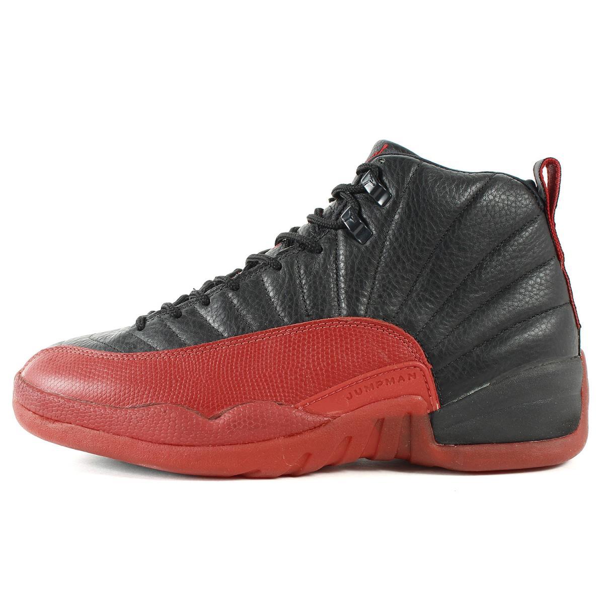 best service 04950 39a5b NIKE (Nike) AIR JORDAN 12 (/ 130,690-061 made in 1996) black X bar city red  US11(29cm)