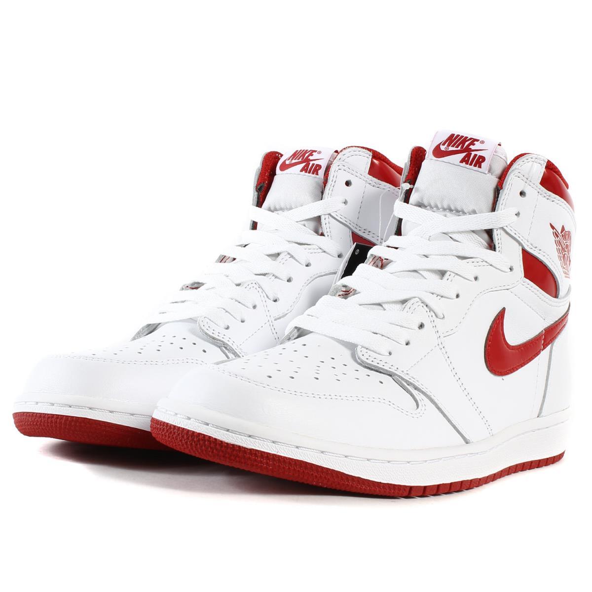 sale retailer caa43 d3813 NIKE (Nike) AIR JORDAN 1 RETRO HIGH OG METALLIC RED (555,088-103) white X  bar city red US10.5(28.5cm)