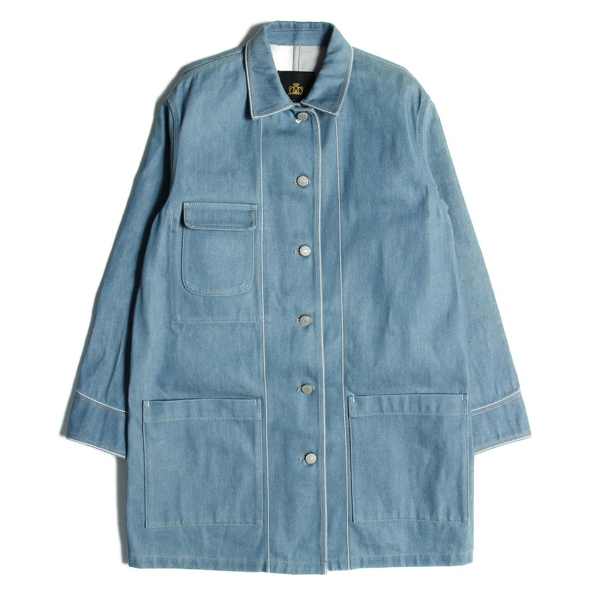 Drawer(ドゥロワー) SELVAGEDENIMカバーオール ジャケット ブルー 38(M) 【レディース】【中古】【美品】【K2299】