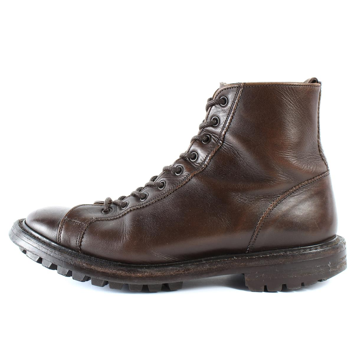 Tricker's (トリッカーズ) レザーレースアップモンキーブーツ(M6081 MONKEY BOOT) ブラウン UK7.5(26cm) 【メンズ】【中古】【K2536】【あす楽☆対応可】