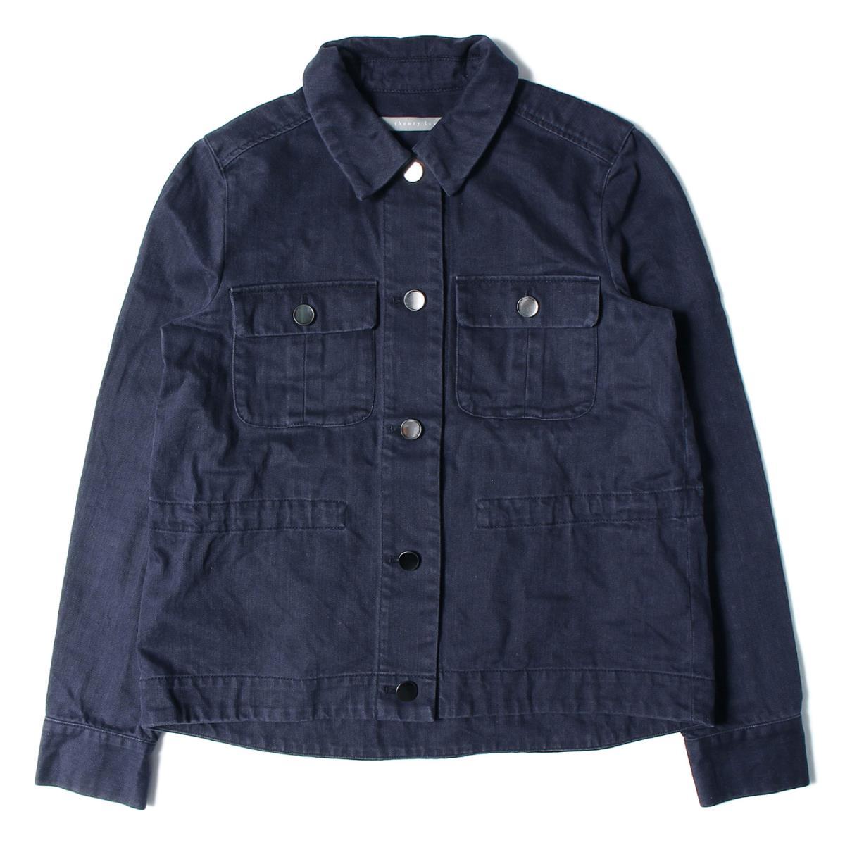 theory luxe(セオリーリュクス) Washed Twill Saske コットン ツイルジャケット 19春夏 ブラック 38(M) 【レディース】【中古】【美品】【K2308】