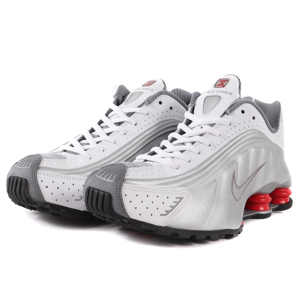 best service 8cf53 1f805 NIKE (Nike) SHOX R4 (/ BV1111-100 made in 2018) white X metallic silver  US9(27)