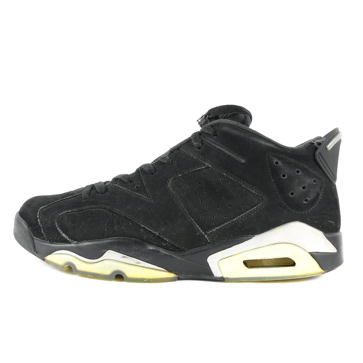 reputable site 499d2 74b2e NIKE (Nike) AIR JORDAN 6 RETRO LOW (304,401-003) black X metallic silver  US12(30cm)