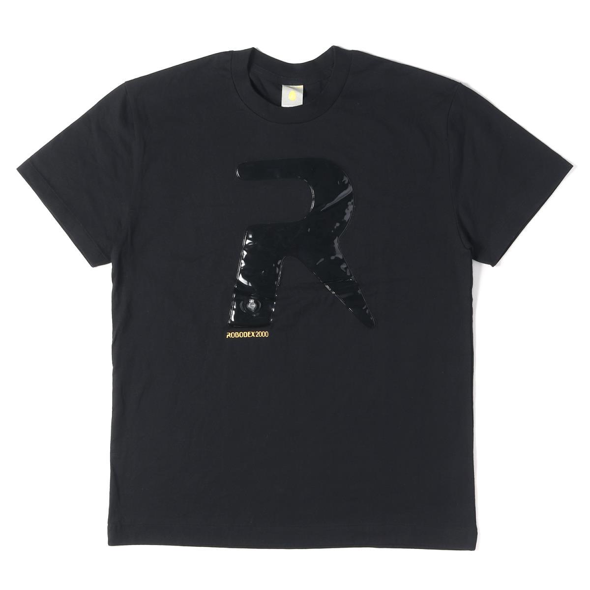 ISSEY MIYAKE (イッセイミヤケ) ROBODEX2000開催記念 RパッチロゴクルーネックTシャツ ブラック L 【メンズ】【中古】【新品同様】【K2319】【あす楽☆対応可】