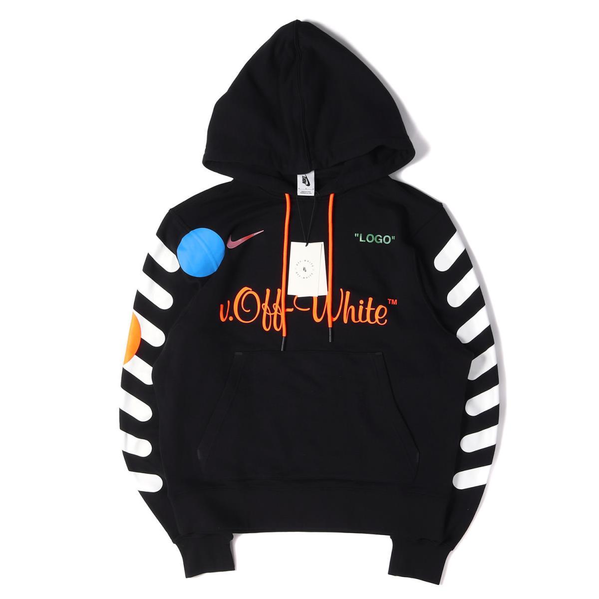 cheap price newest buy best OFF-WHITE (off-white) 18S/S X NIKE NikeLab brand logo sweat shirt parka  (Hoodie / AA3257-010) black M
