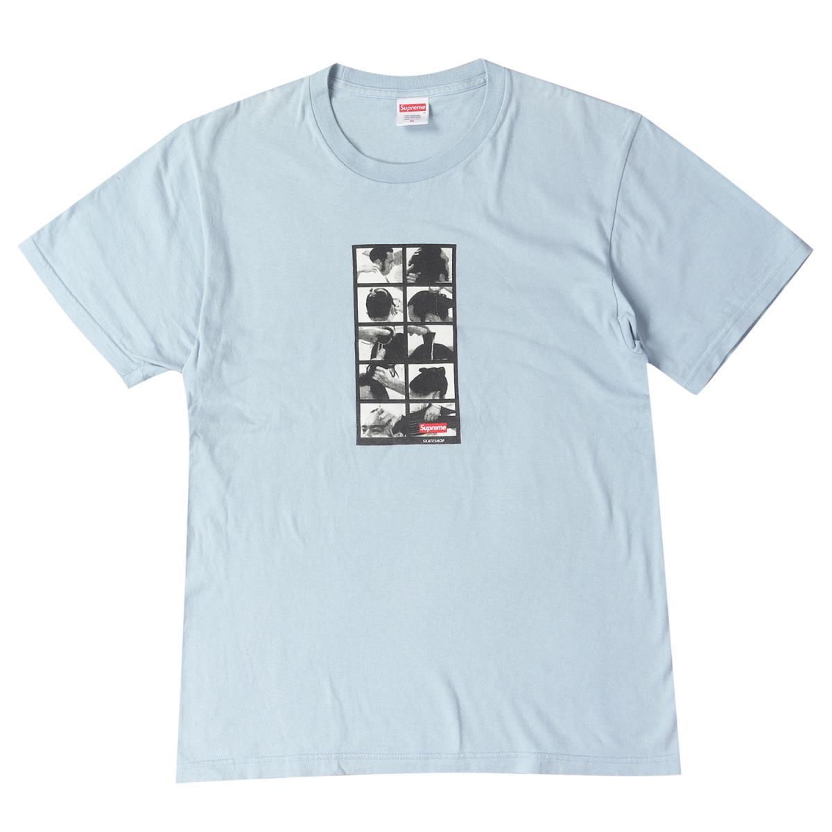 Supreme (シュプリーム) 16A/W 相撲モノクロフォトクルーネックTシャツ(Sumo Tee) ライトブルー M 【メンズ】【中古】【K2323】【あす楽☆対応可】