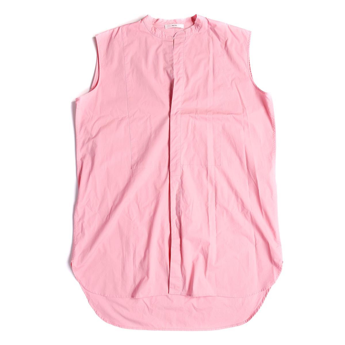 【プライスダウン】REYC(リック) ノースリーブ ブラウス シャツ No-sleeve Shirt 19春夏 ピンク 38 【レディース】【中古】【美品】【K2620】