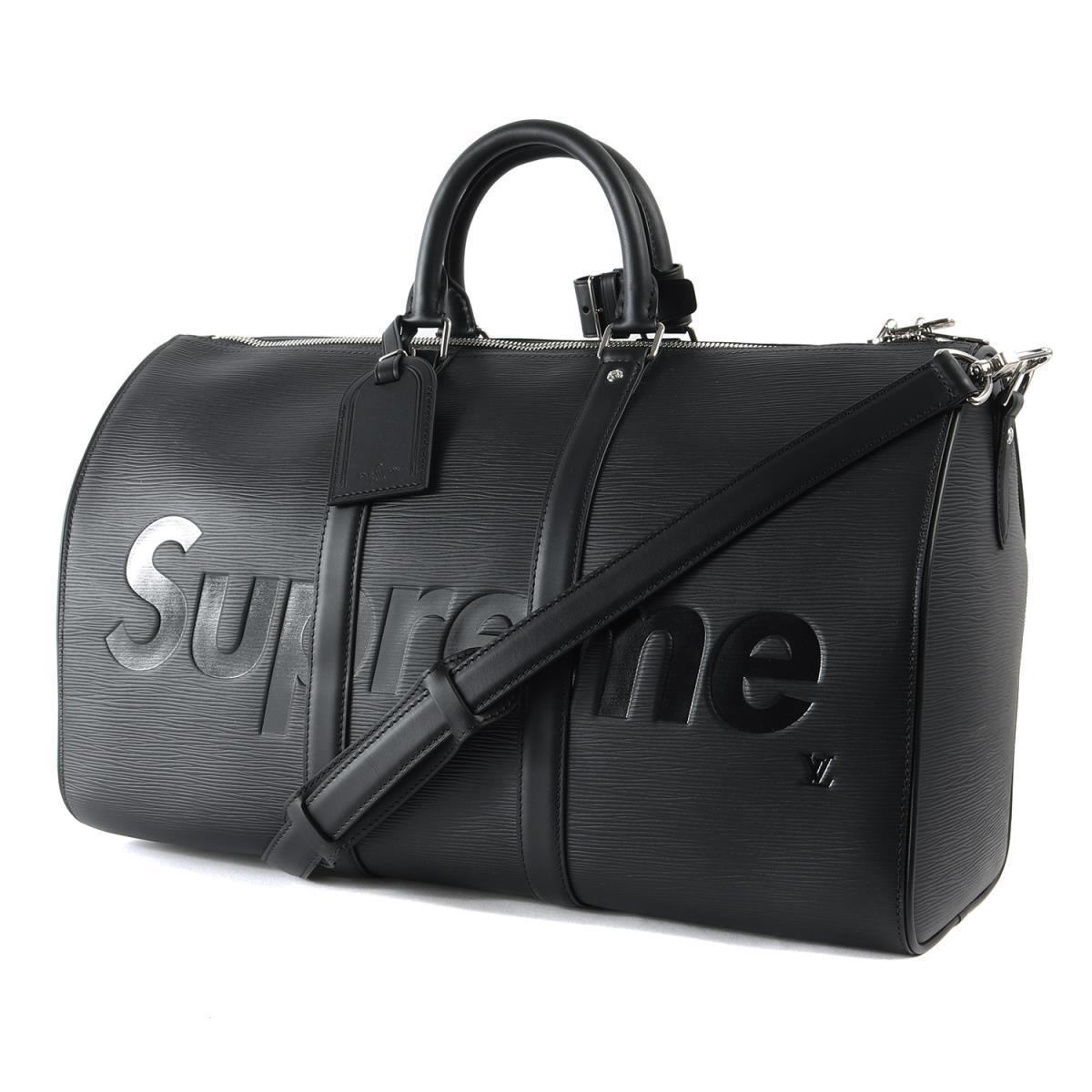 Supreme (シュプリーム) 17A/W ×LOUIS VUITTON エピレザーキーポルボストンバッグ(KEEP.45 BA.SP EPI DWT) ブラック 45 【メンズ】【K2351】【☆対応可】