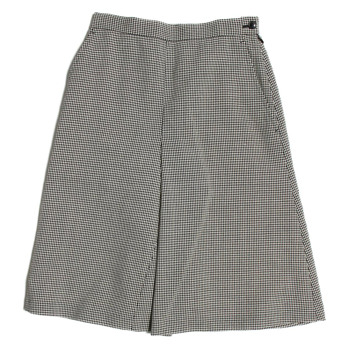beautiful peple(ビューティフルピープル) w.hounds-tooth semi flare skirt セミ フレアスカート ブラック×ホワイト 34(XS) 【レディース】【中古】【美品】【K2379】