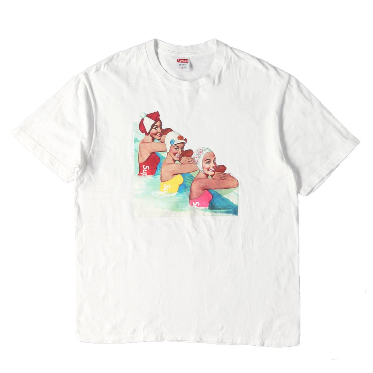 Supreme (シュプリーム) Tシャツ 18SS スイマーズ グラフィック Tシャツ Swimmers Tee ホワイト M 【メンズ】【中古】【K2395】【あす楽☆対応可】