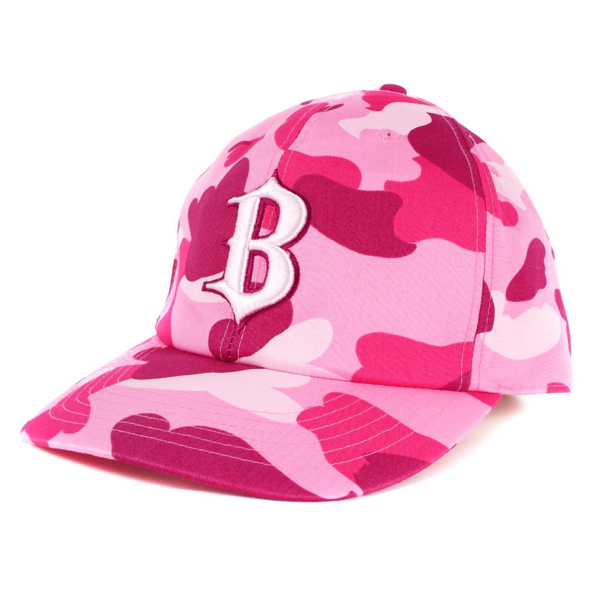 APE (エイプ) キャップ Bロゴ 刺繍 カラーカモ ベースボールキャップ ピンク L 【メンズ】【中古】【K2403】【あす楽☆対応可】
