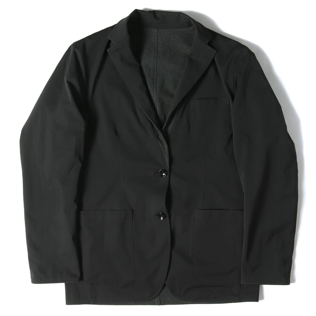 SOPHNET (ソフネット) ジャケット 17SS リバーシブル 2B テーラードジャケット REVERSIBLE 2 BUTTON JACKET ブラック×チャコール L 【メンズ】【中古】【美品】【K2545】【あす楽☆対応可】