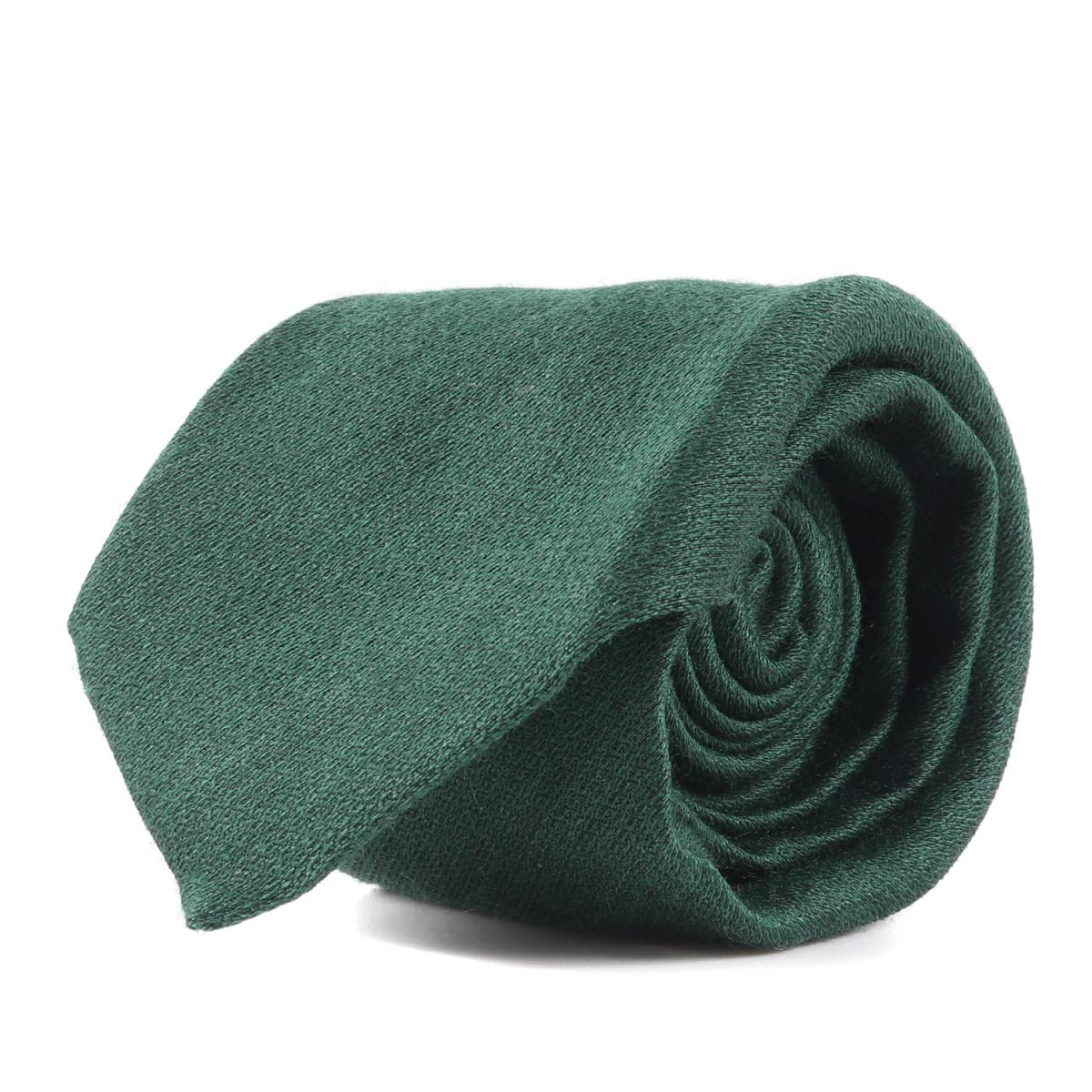 GUCCI (グッチ) ネクタイ 現行モデル タイガー刺繍シルクウールネクタイ グリーン 【メンズ】【中古】【美品】【K2424】【あす楽☆対応可】