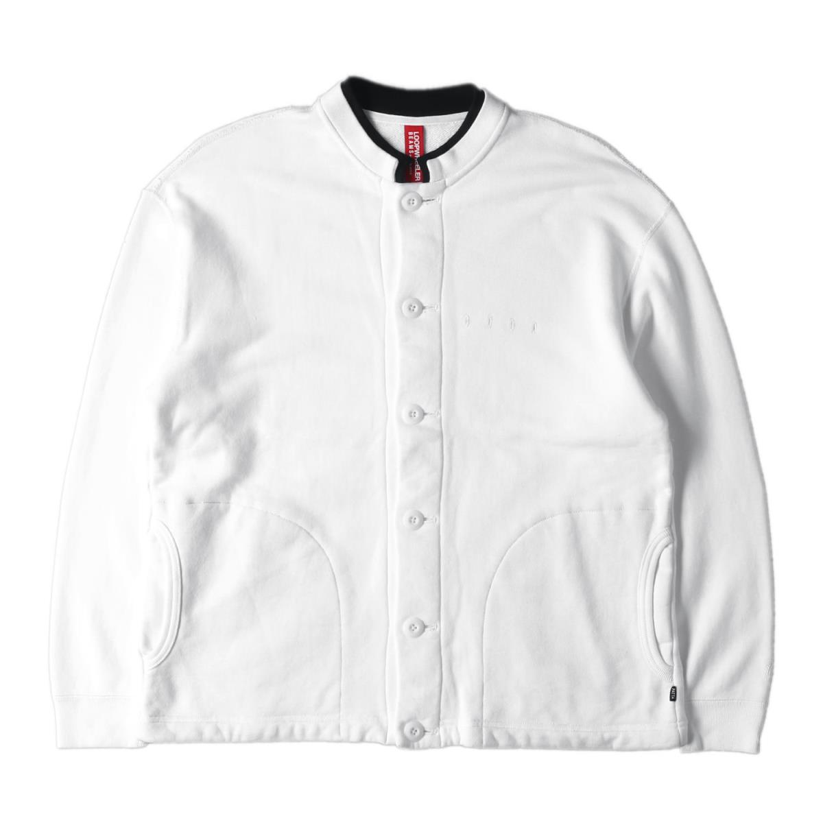 Patta (パタ) シャツ 17AW ×BEAMS×LOOPWHEELER スタンドカラー スウェット シャツ (Sweat Shirts) ホワイト M 【メンズ】【中古】【K2569】【あす楽☆対応可】