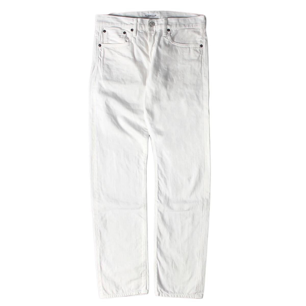 Ron Herman (ロンハーマン) パンツ 16AW ボタンフライ ストレート デニムパンツ ホワイト 30 【メンズ】【中古】【K2568】