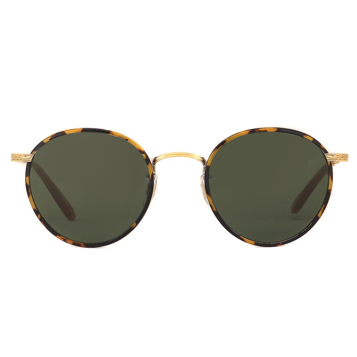 GARRETT LEIGHT ギャレットライト サングラス ラウンド 型 スモークレンズ サングラス WILSON 眼鏡 べっ甲 49□22 【メンズ】【中古】【美品】【K2453】【あす楽☆対応可】