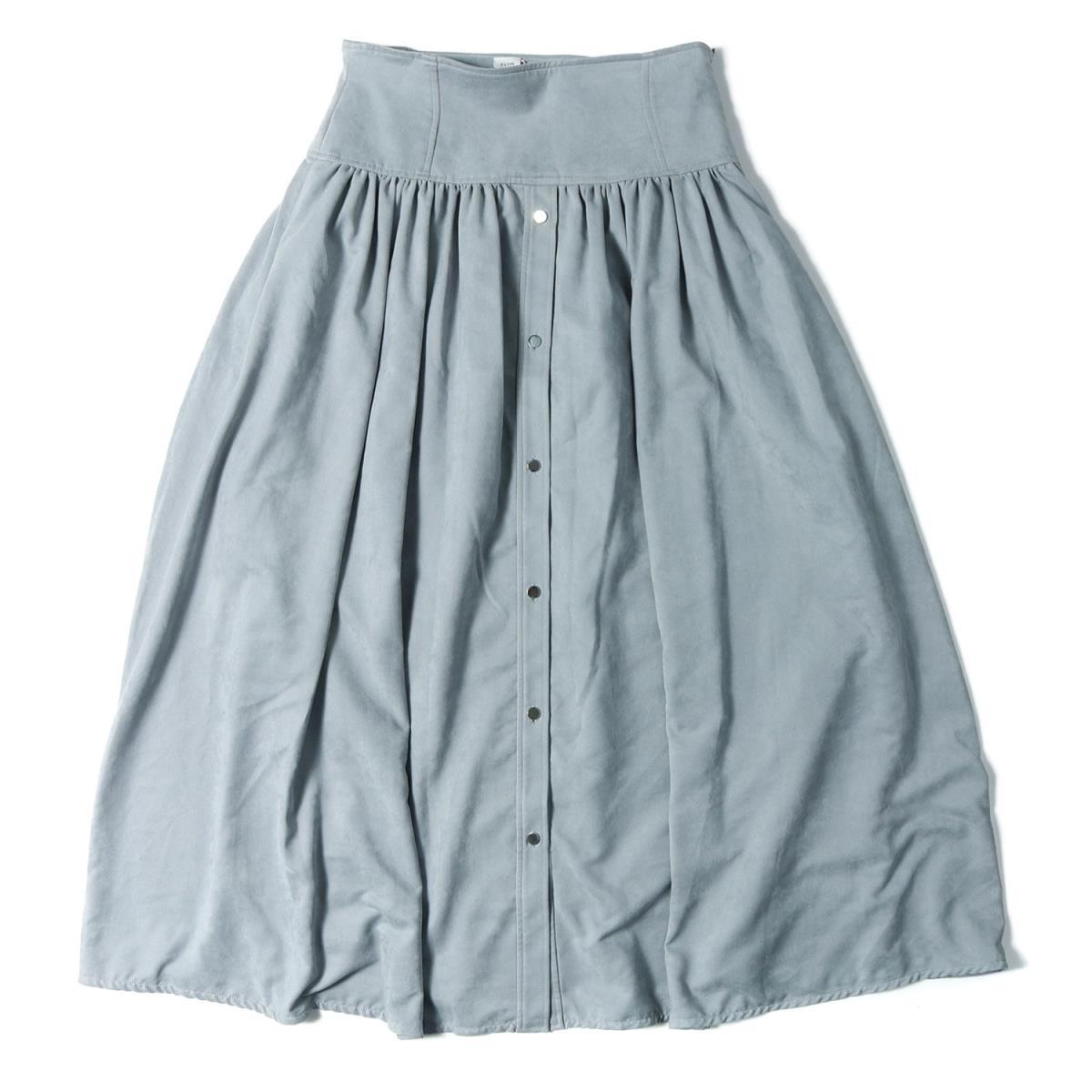 ELIN(エリン) フェイクスエード ギャザースカート 18秋冬 ブルー 38(M) 【レディース】【中古】【美品】【K2637】