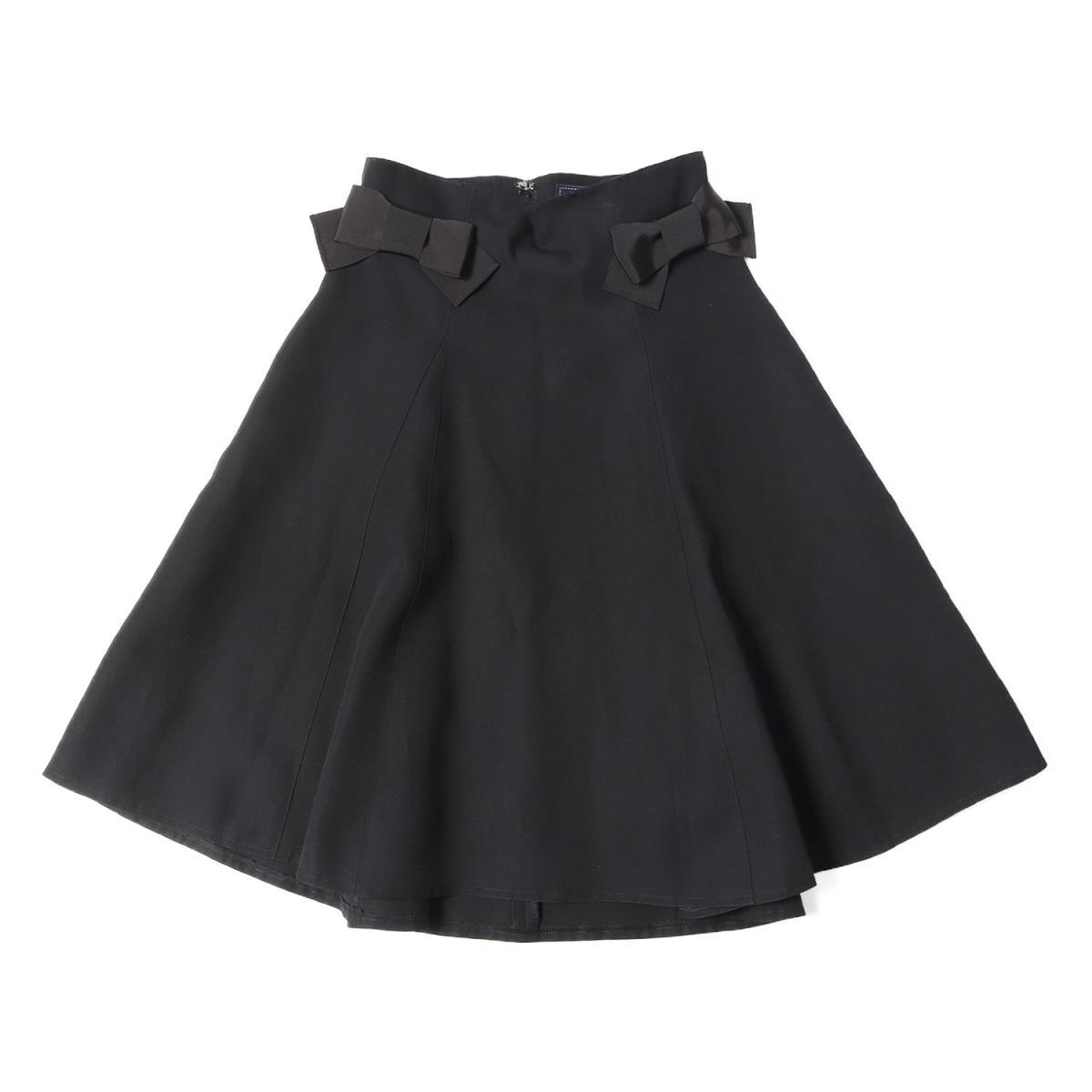 M'S GRACY エムズグレイシー リボン フレアスカート 19春夏 ブラック 36 【レディース】【中古】【美品】【K2467】