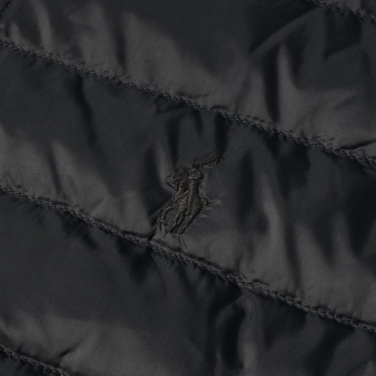 POLO by Ralph Lauren ポロ バイ ラルフローレン ジャケット 裏地チェック 柄 ライナー ダウンジャケット ブラック Lメンズ美品K2469あす楽 対応可rxsQdhtC