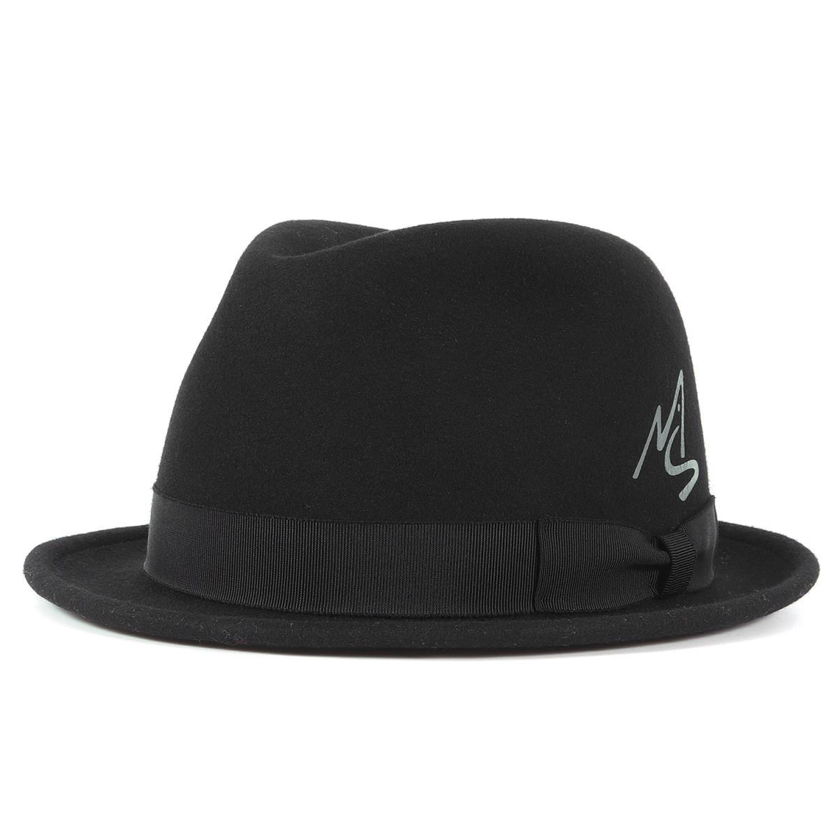 MASSES マシス ハット 18AW アイコンマーク ウール フェルト ハット FELT HAT ブラック M 【メンズ】【K2472】【あす楽☆対応可】