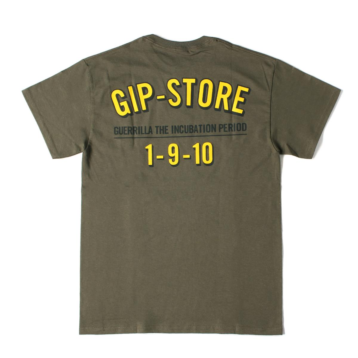 WTAPS ダブルタップス Tシャツ 19AW GIP-STORE限定 ロゴプリント Tシャツ オリーブドラブ M 【メンズ】【K2480】