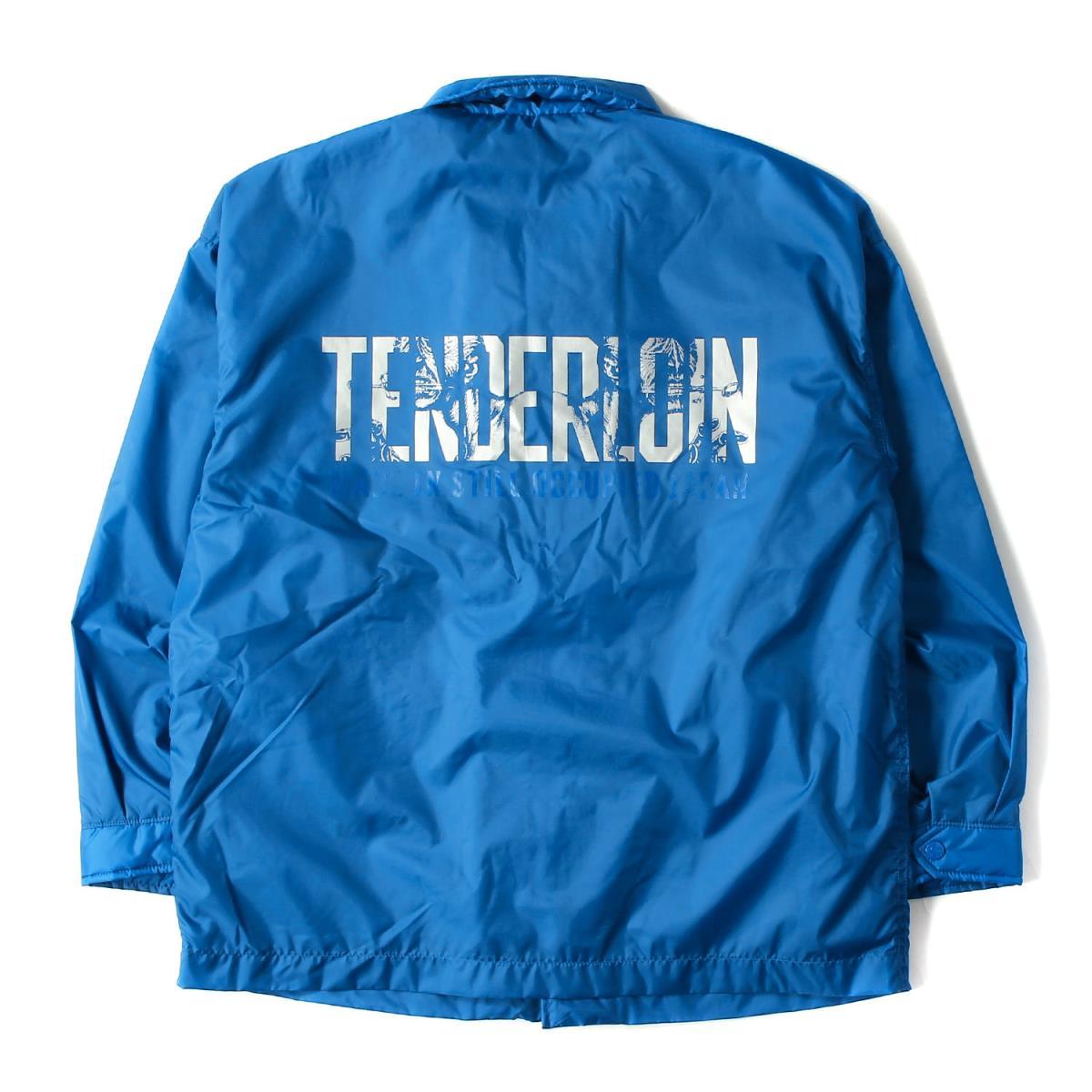 TENDERLOIN テンダーロイン ジャケット 18' グラフィックロゴ ナイロン コーチジャケット T NYLON COACH JKT QB サックス Sメンズ美品K2482K1lcJTF