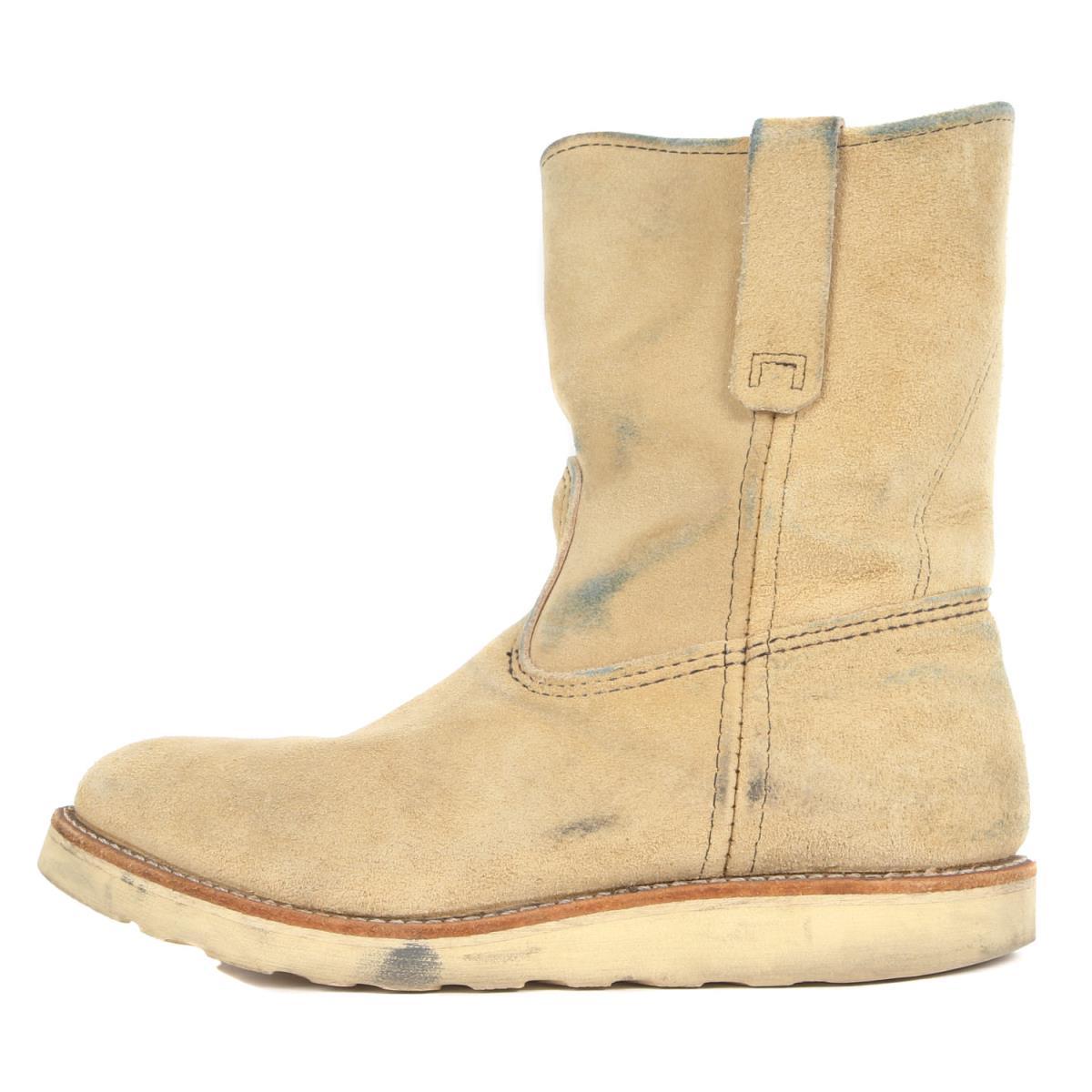 Red Wing レッド ウィング 07' 8168 スウェードペコスブーツ Pecos Boots ホーソーンアビレーンラフアウト US8 E(26cm) 【メンズ】【中古】【K2486】