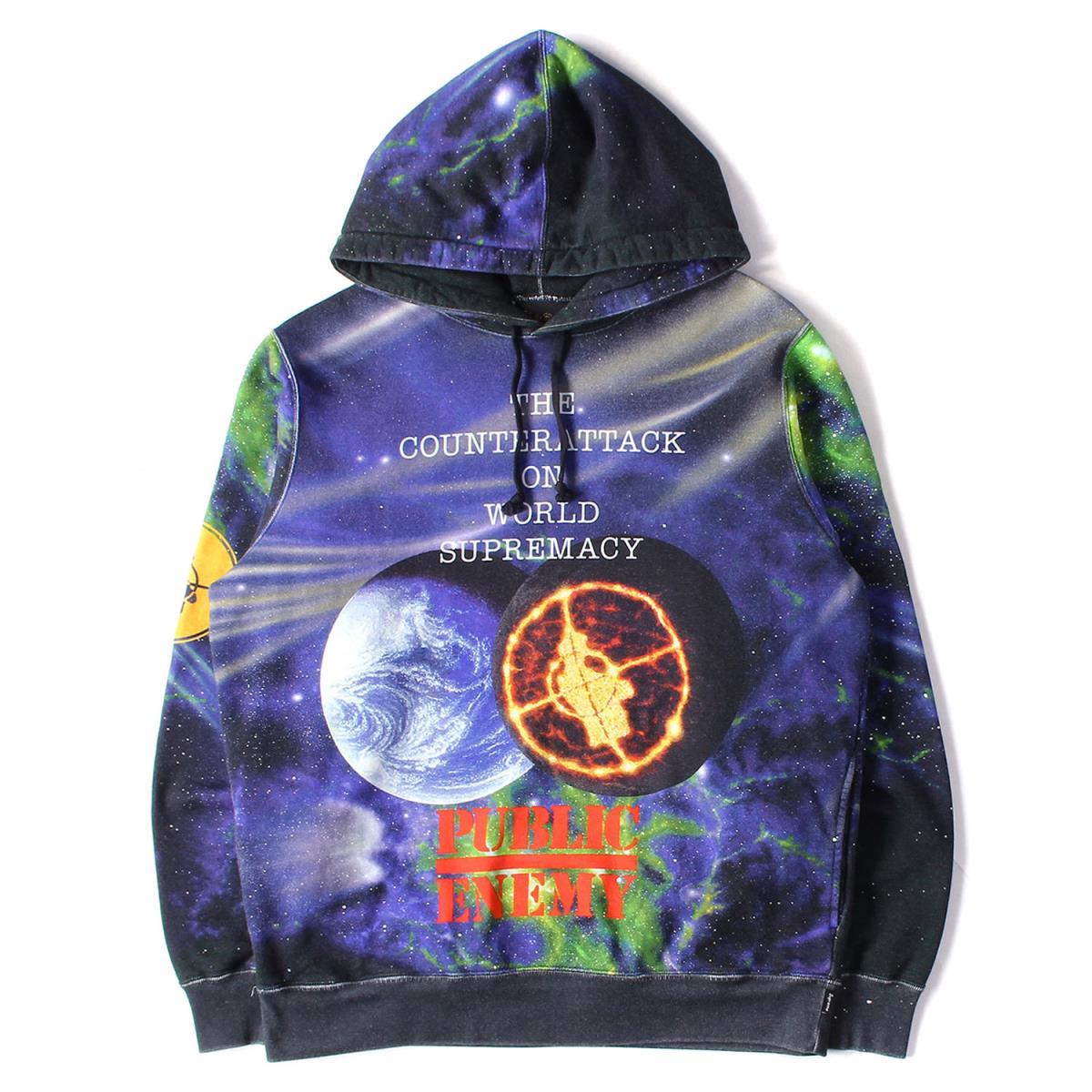 Supreme シュプリーム パーカー 18SS × UNDERCOVER × PUBLIC ENEMY スウェット パーカー Hooded Sweatshirt ブラック M 【メンズ】【中古】【美品】【K2494】