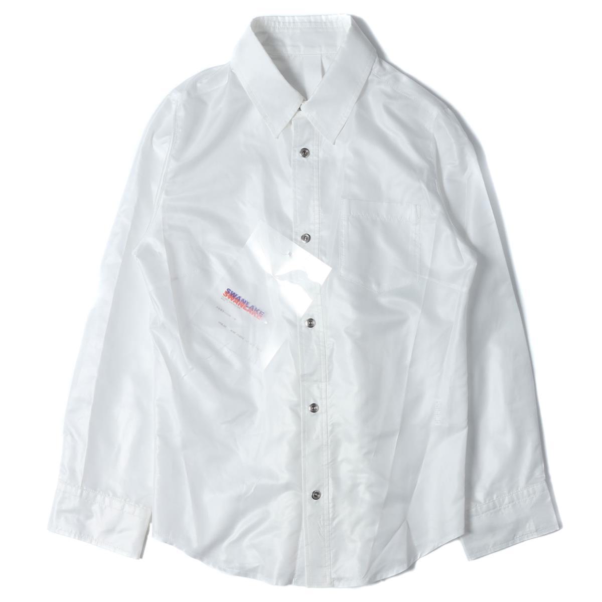 SWANLAKE スワンレイク サテン フリルシャツ ブラウス 19春夏 ホワイト 【レディース】【K2637】