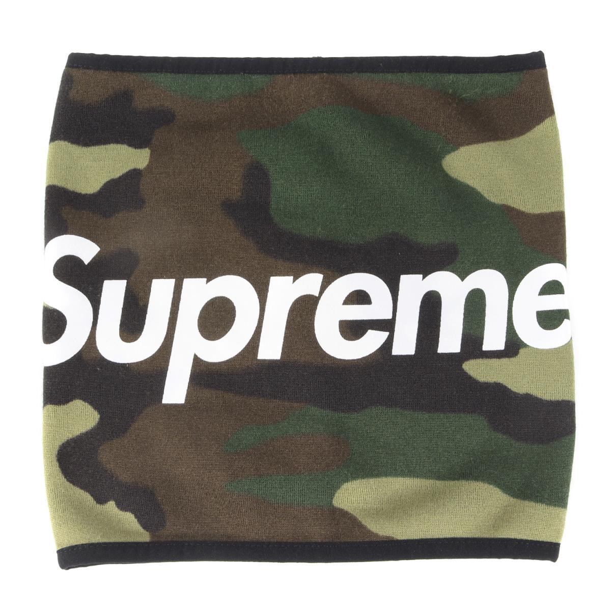 Supreme シュプリーム ネックウォーマー 15AW ブランドロゴ フリース ネックウォーマー Fleece Neck Gaiter カモフラージュ 【メンズ】【美品】【中古】【K2546】
