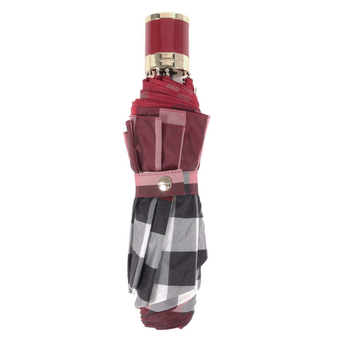 BURBERRY バーバリー 傘 タータンチェック 折り畳み傘 パレードレッド 【メンズ】【中古】【美品】【K2550】
