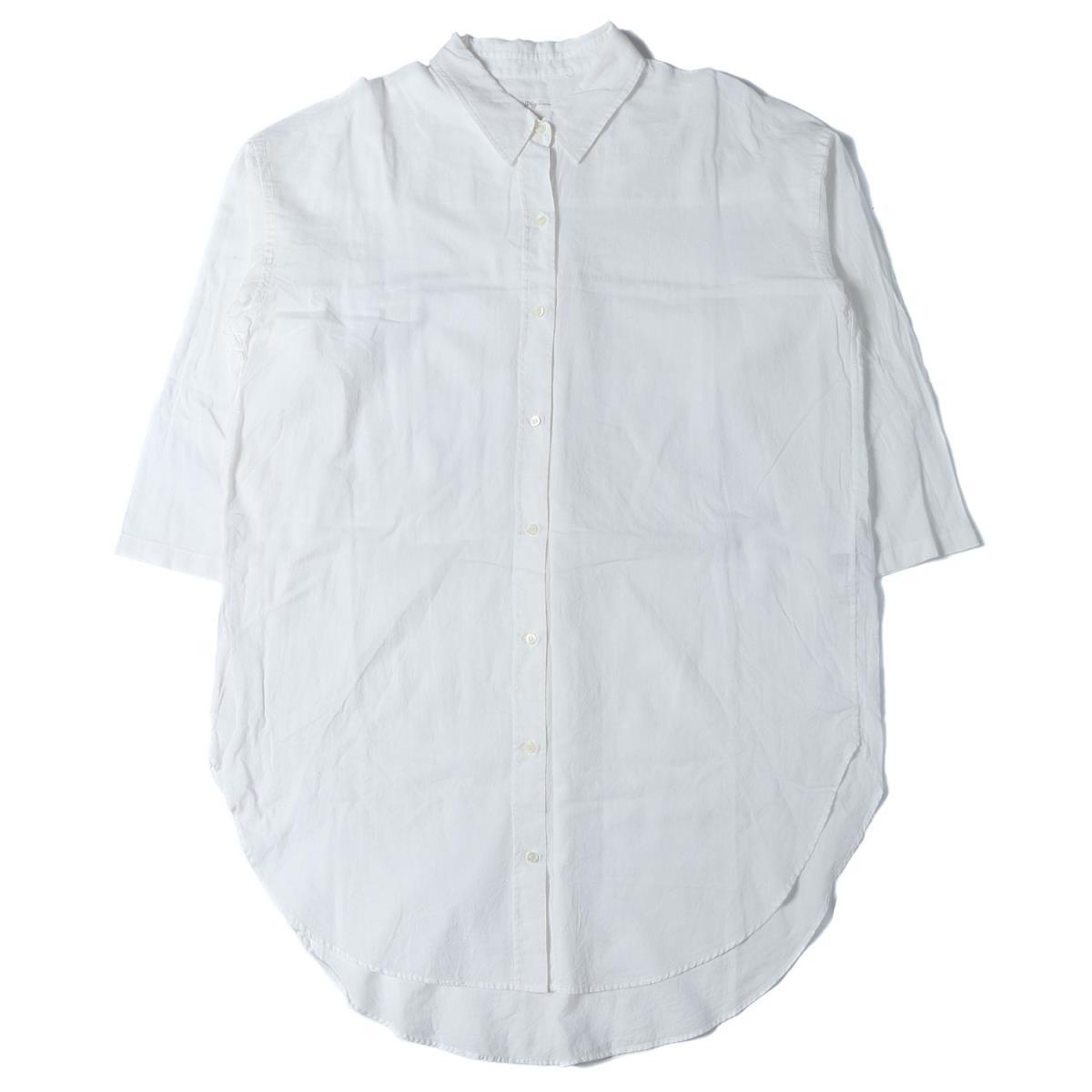 Plage プラージュ Stripe wash シャツ ワンピース 19春夏 ホワイト 【レディース】【中古】【K2552】