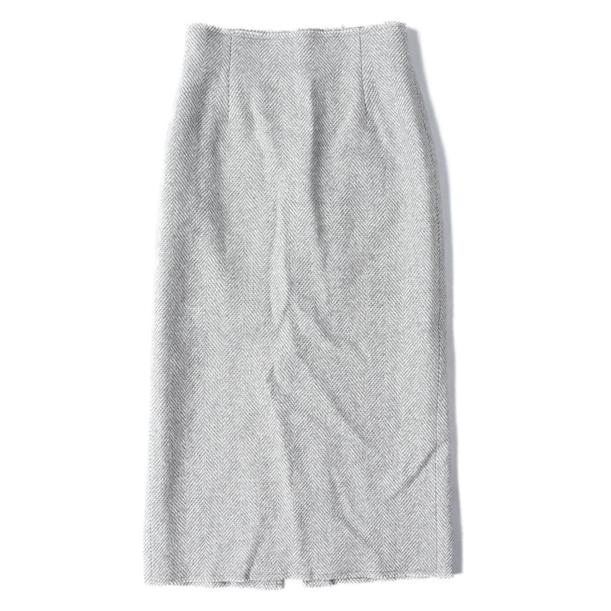 Plage プラージュ Tweed Tight ツイード タイト スカート 19秋冬 グレー 34(XS) 【レディース】【中古】【美品】【K2565】