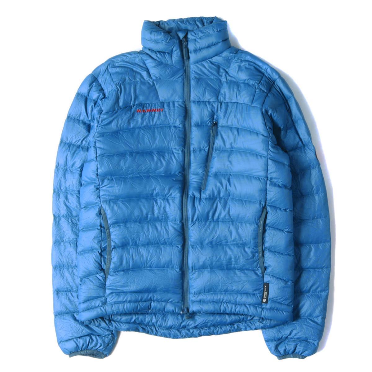 MAMMUT マムート ジャケット ビロードピーク2 ナイロン ダウンジャケット BROAD PEAK 2 JACKET ブルー L(ASIA) 【メンズ】【中古】【K2565】
