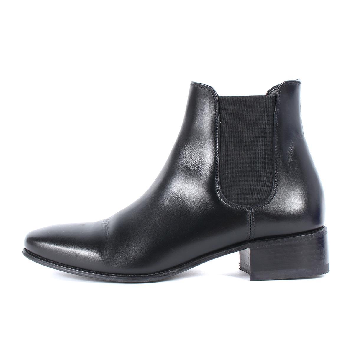 PETE SORENSEN ピートソレンセン カーフ サイドゴア ブーツ CALF SIDE GOA BOOTS ブラック 37(24cm) 【レディース】【中古】【美品】【K2571】