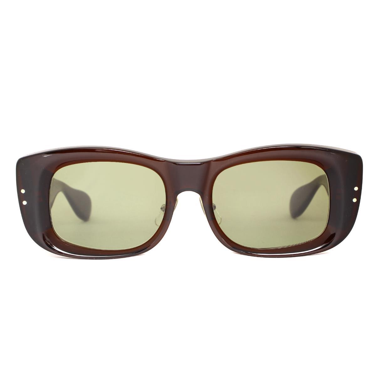 TENDERLOIN テンダーロイン サングラス 白山眼鏡店 ワイドフレーム サングラス T-TV ブラウンフレーム グリーンレンズ 【メンズ】【中古】【K2571】